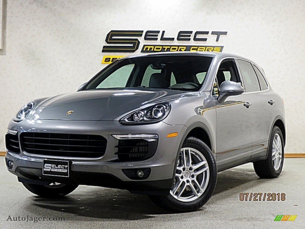 2017 Cayenne S - Palladium Metallic / Black photo #1