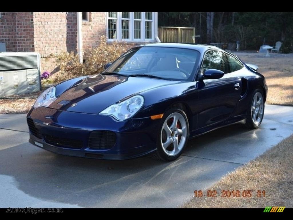 2001 911 Turbo Coupe - Lapis Blue Metallic / Graphite Grey photo #1