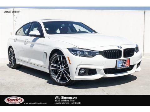 Alpine White 2019 BMW 4 Series 440i Gran Coupe