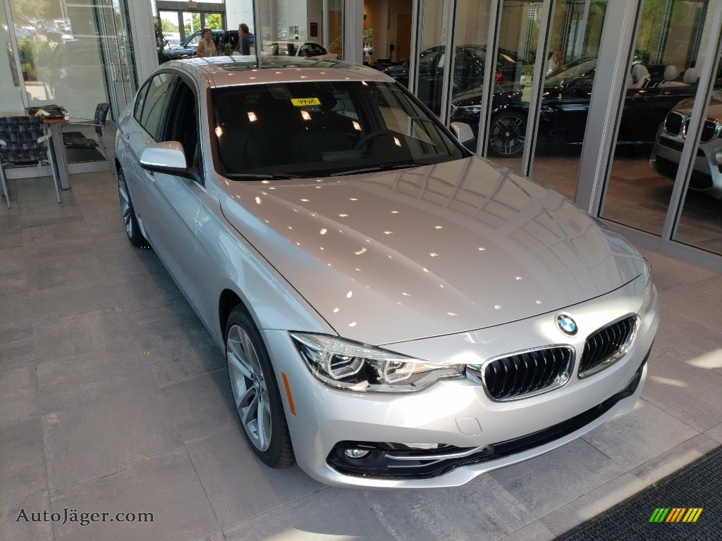 2018 3 Series 330i xDrive Sedan - Glacier Silver Metallic / Black photo #1
