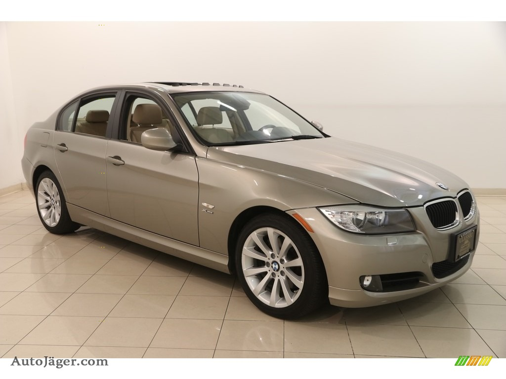 2011 3 Series 328i xDrive Sedan - Platinum Bronze Metallic / Beige Dakota Leather photo #1