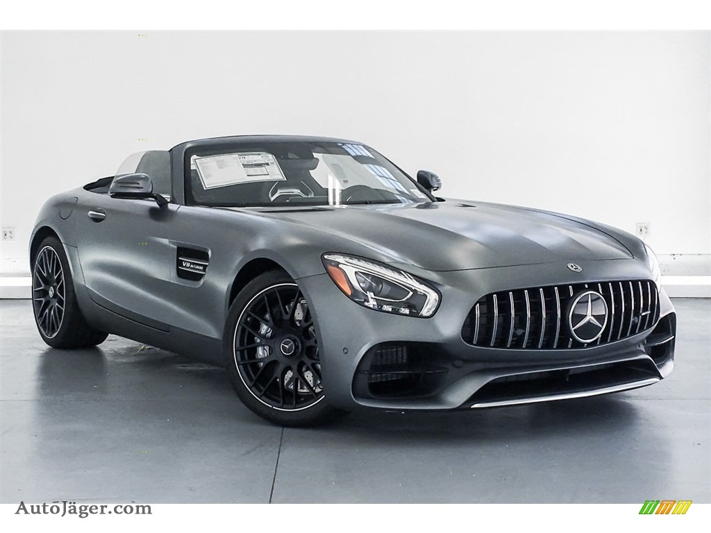 2018 AMG GT Roadster - designo Selenite Grey Magno (Matte) / Auburn Brown photo #12