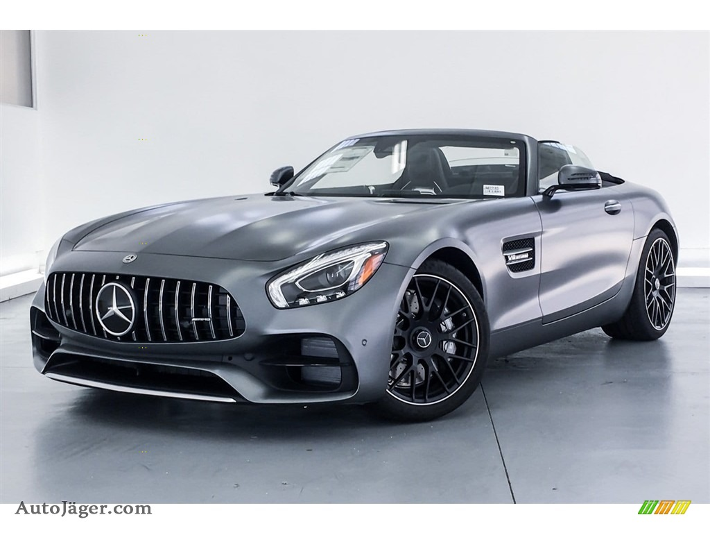 2018 AMG GT Roadster - designo Selenite Grey Magno (Matte) / Auburn Brown photo #13