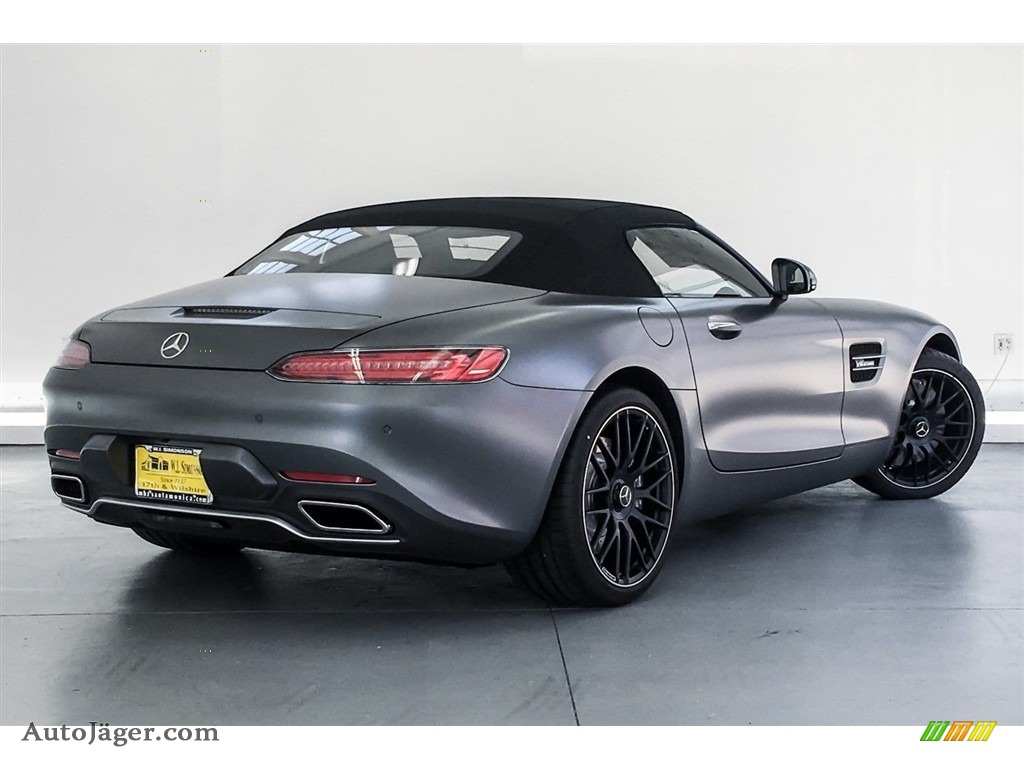 2018 AMG GT Roadster - designo Selenite Grey Magno (Matte) / Auburn Brown photo #15