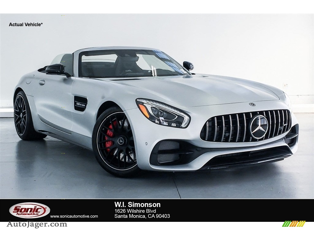 designo Iridium Silver Magno (Matte) / Red Pepper/Black Mercedes-Benz AMG GT C Roadster