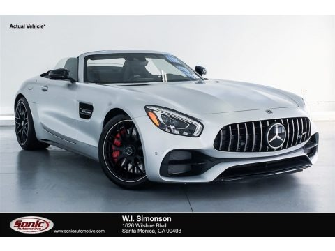 designo Iridium Silver Magno (Matte) 2018 Mercedes-Benz AMG GT C Roadster