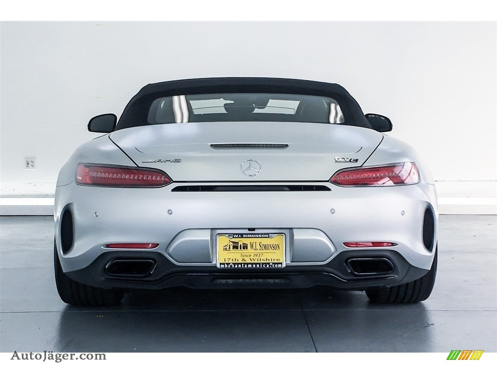 2018 AMG GT C Roadster - designo Iridium Silver Magno (Matte) / Red Pepper/Black photo #3