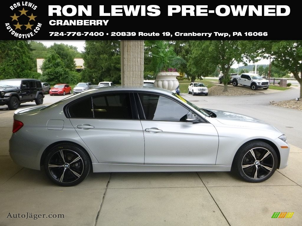 2015 3 Series 328i xDrive Sedan - Glacier Silver Metallic / Black photo #1