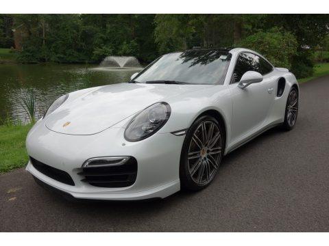 White 2015 Porsche 911 Turbo Coupe