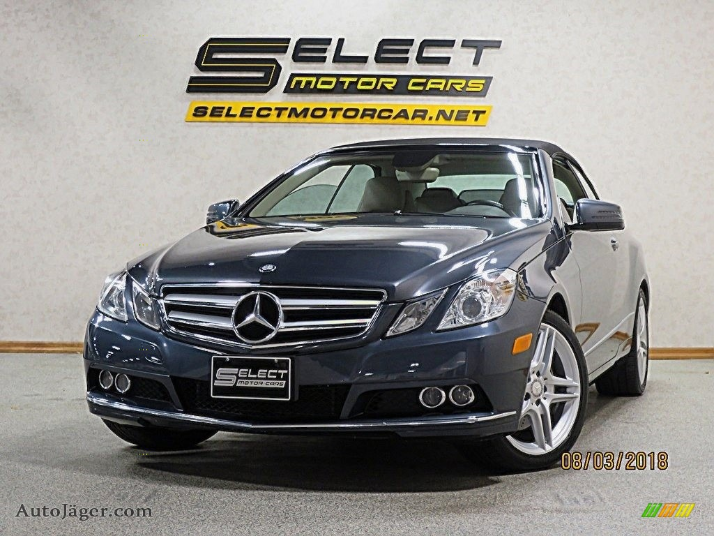 2011 E 350 Cabriolet - Steel Grey Metallic / Natural Beige/Black photo #1