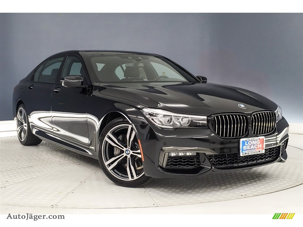 2019 7 Series 740i Sedan - Black Sapphire Metallic / Black photo #12
