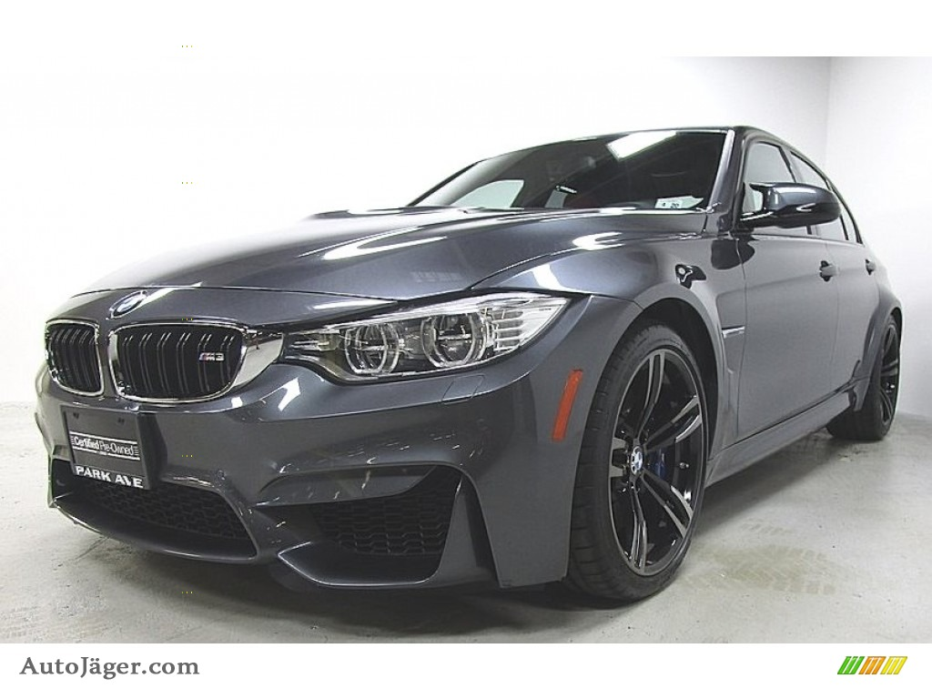 2015 M3 Sedan - Mineral Grey Metallic / Sakhir Orange/Black photo #1