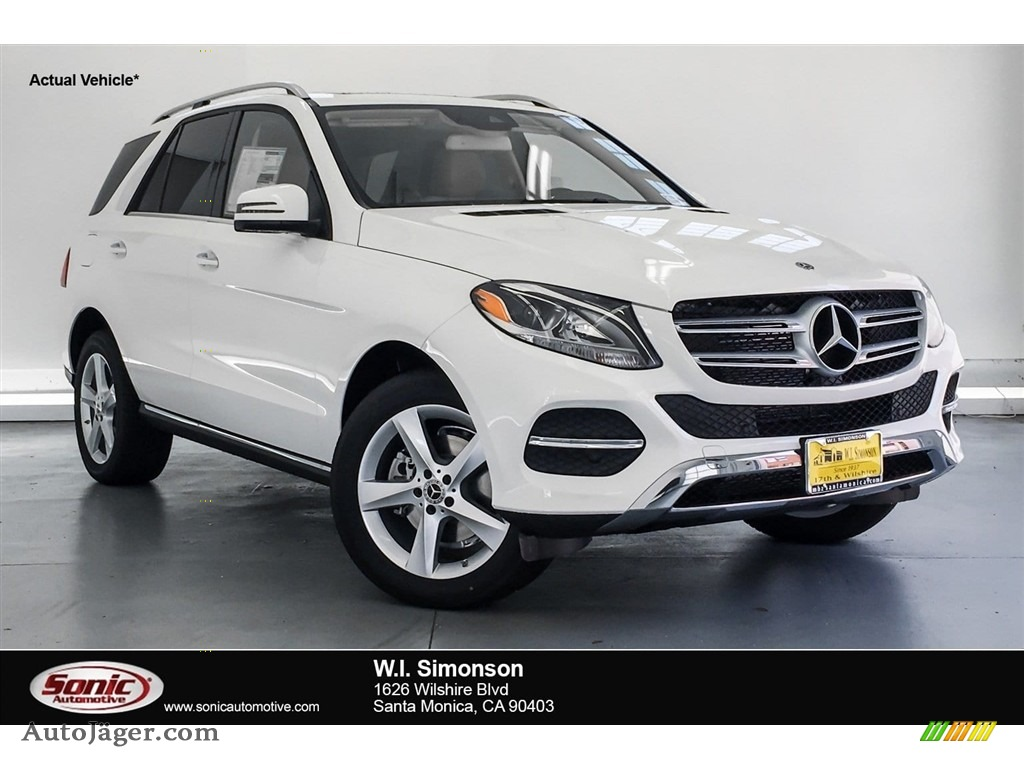 2018 GLE 350 4Matic - Polar White / Ginger Beige/Espresso Brown photo #1