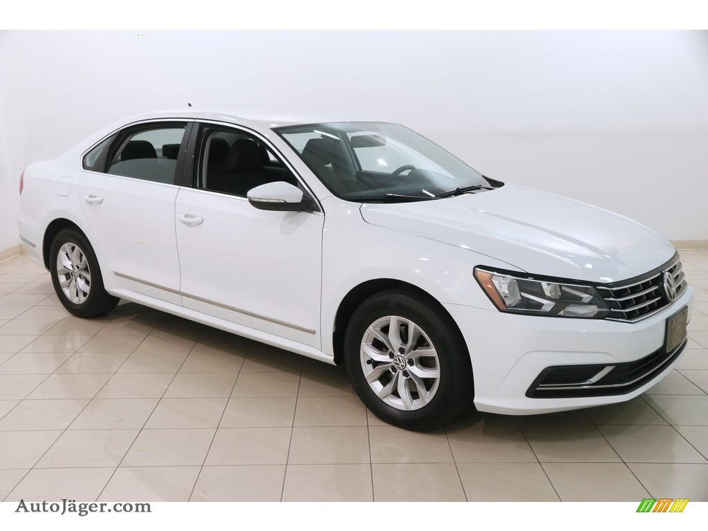 2016 Passat S Sedan - Pure White / Titan Black photo #1