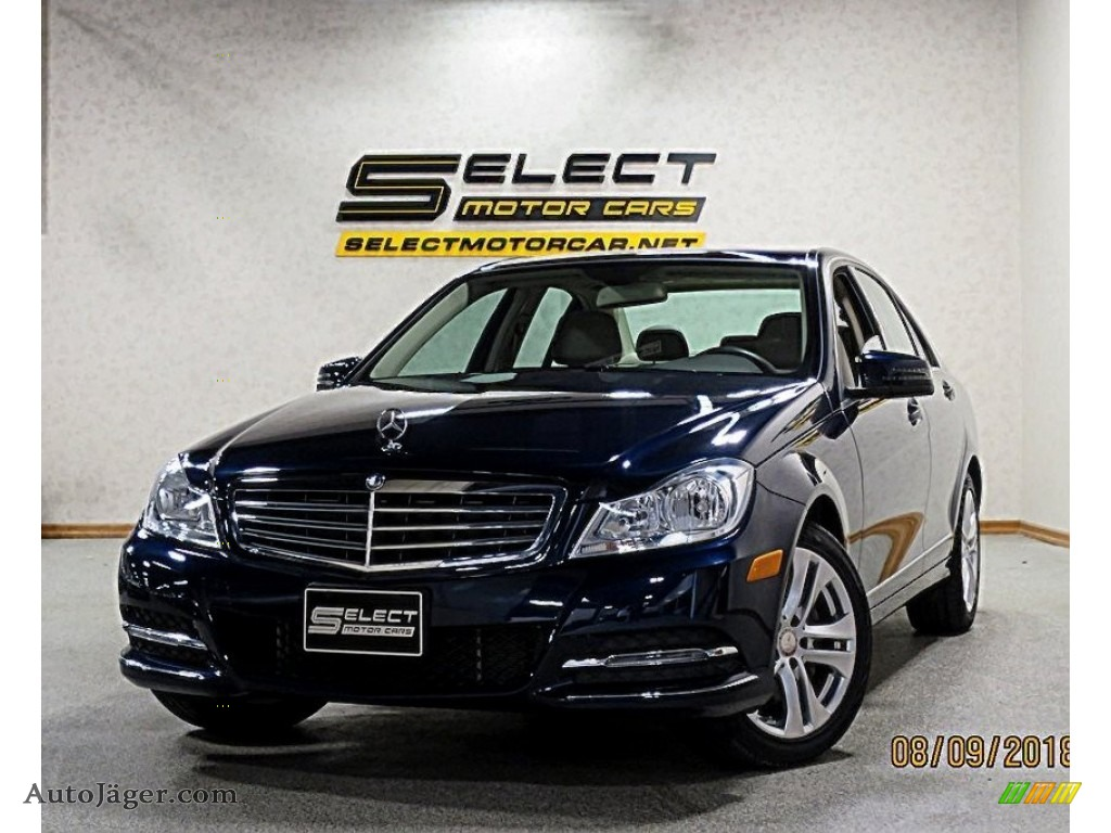 2014 C 300 4Matic Luxury - Lunar Blue Metallic / Sahara Beige/Black photo #1