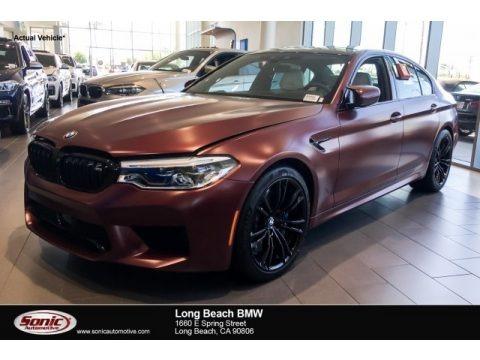 Frozen Dark Red Metallic 2018 BMW M5 Sedan