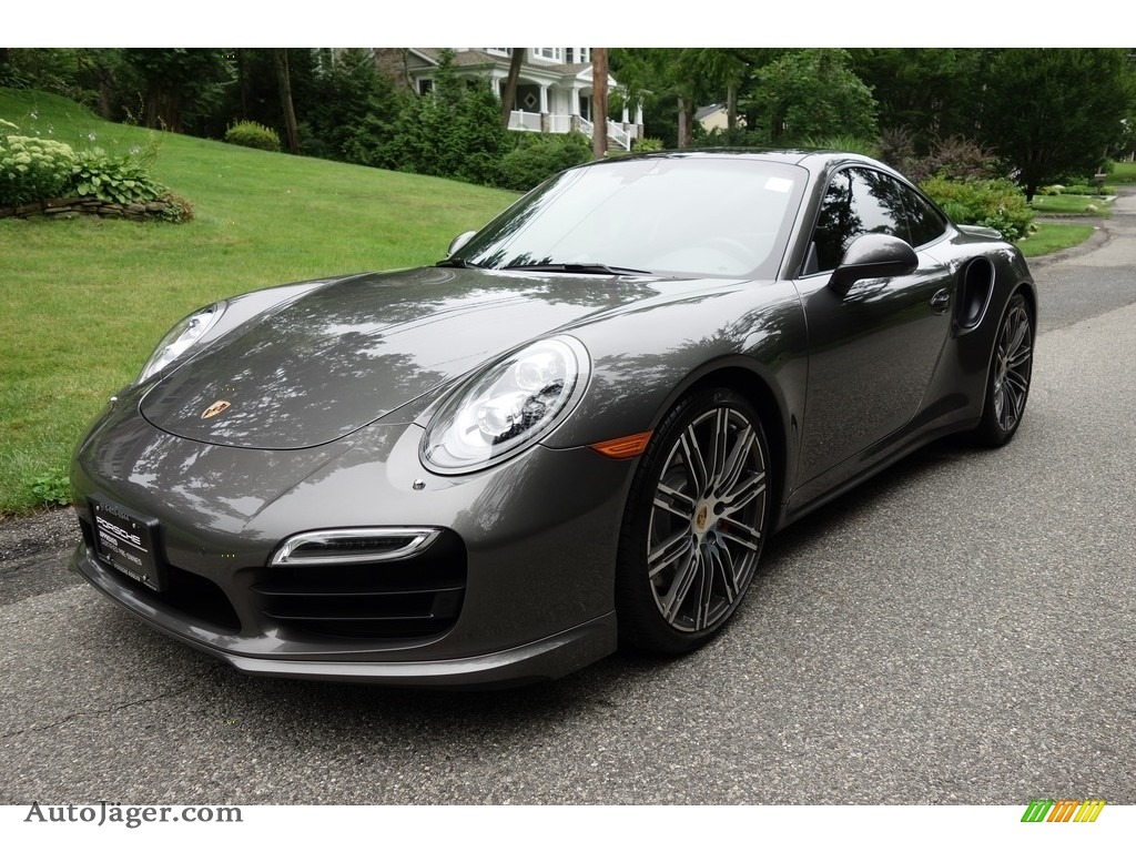 2015 911 Turbo Coupe - Agate Grey Metallic / Black/Garnet Red photo #1