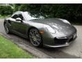 Porsche 911 Turbo Coupe Agate Grey Metallic photo #8