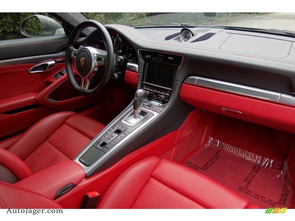 2015 911 Turbo Coupe - Agate Grey Metallic / Black/Garnet Red photo #13