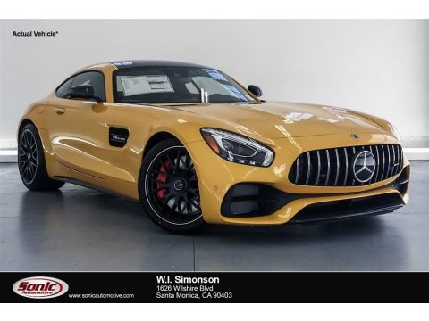 AMG Sunbeam Yellow 2018 Mercedes-Benz AMG GT C Coupe