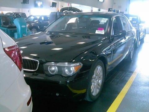Black Sapphire Metallic 2003 BMW 7 Series 745i Sedan