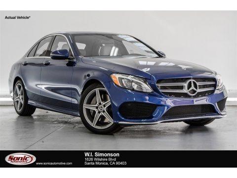 Brilliant Blue Metallic 2018 Mercedes-Benz C 300 Sedan