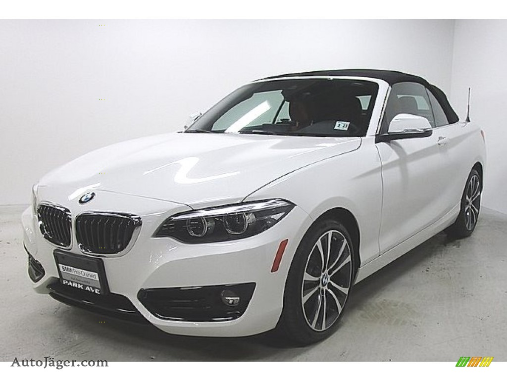 2018 2 Series 230i xDrive Convertible - Alpine White / Coral Red photo #1