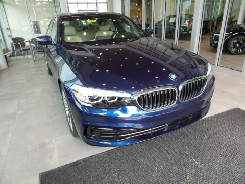 Mediterranean Blue Metallic 2019 BMW 5 Series 540i xDrive Sedan