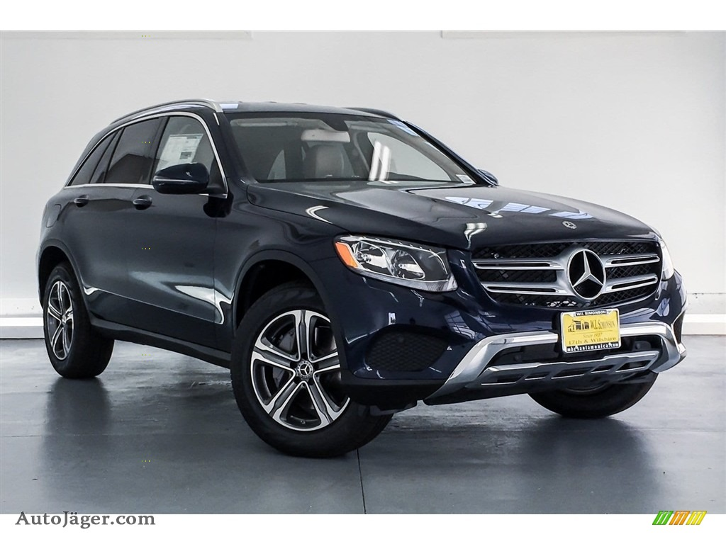 2019 GLC 300 4Matic - Lunar Blue Metallic / Silk Beige/Black photo #12