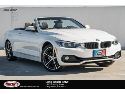Alpine White 2018 BMW 4 Series 430i Convertible