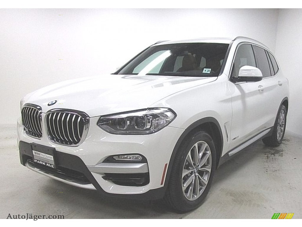 2018 X3 xDrive30i - Alpine White / Cognac photo #1