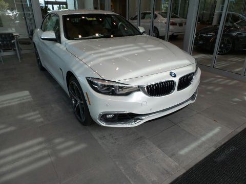 Mineral White Metallic 2019 BMW 4 Series 440i xDrive Convertible