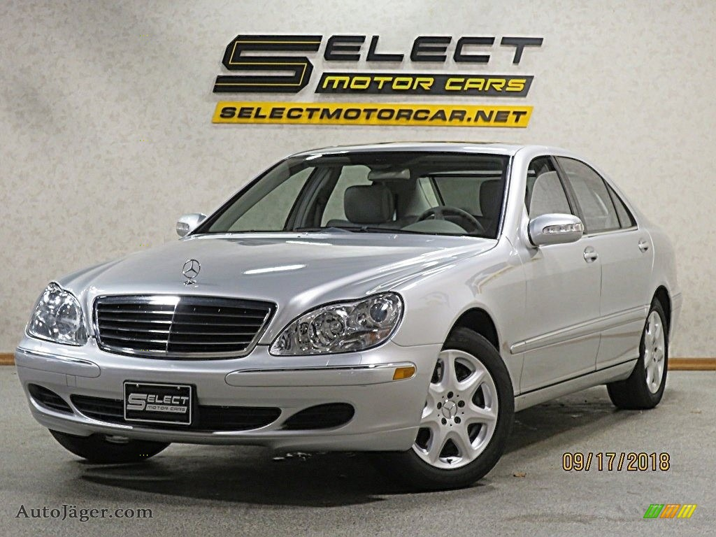 2005 S 500 4Matic Sedan - Brilliant Silver Metallic / Ash photo #1