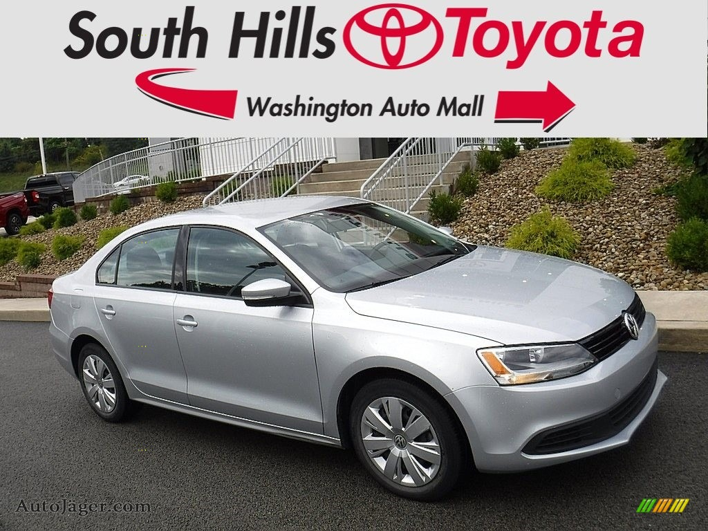 2012 Jetta SE Sedan - Moonrock Silver Metallic / Titan Black photo #1