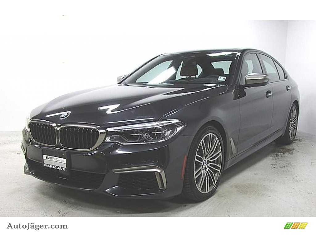 2018 5 Series M550i xDrive Sedan - Dark Graphite Metallic / Cognac photo #1