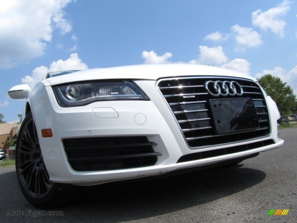 2012 A7 3.0T quattro Premium Plus - Ibis White / Velvet Beige photo #1