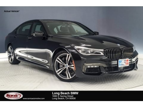 Black Sapphire Metallic 2019 BMW 7 Series 750i Sedan