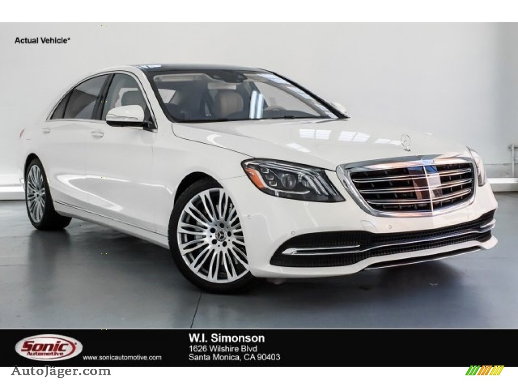 2019 S 450 Sedan - designo Diamond White Metallic / Silk Beige/Espresso Brown photo #1