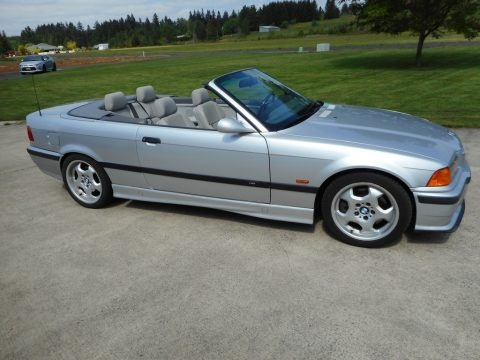 Arctic Silver Metallic 1998 BMW M3 Convertible