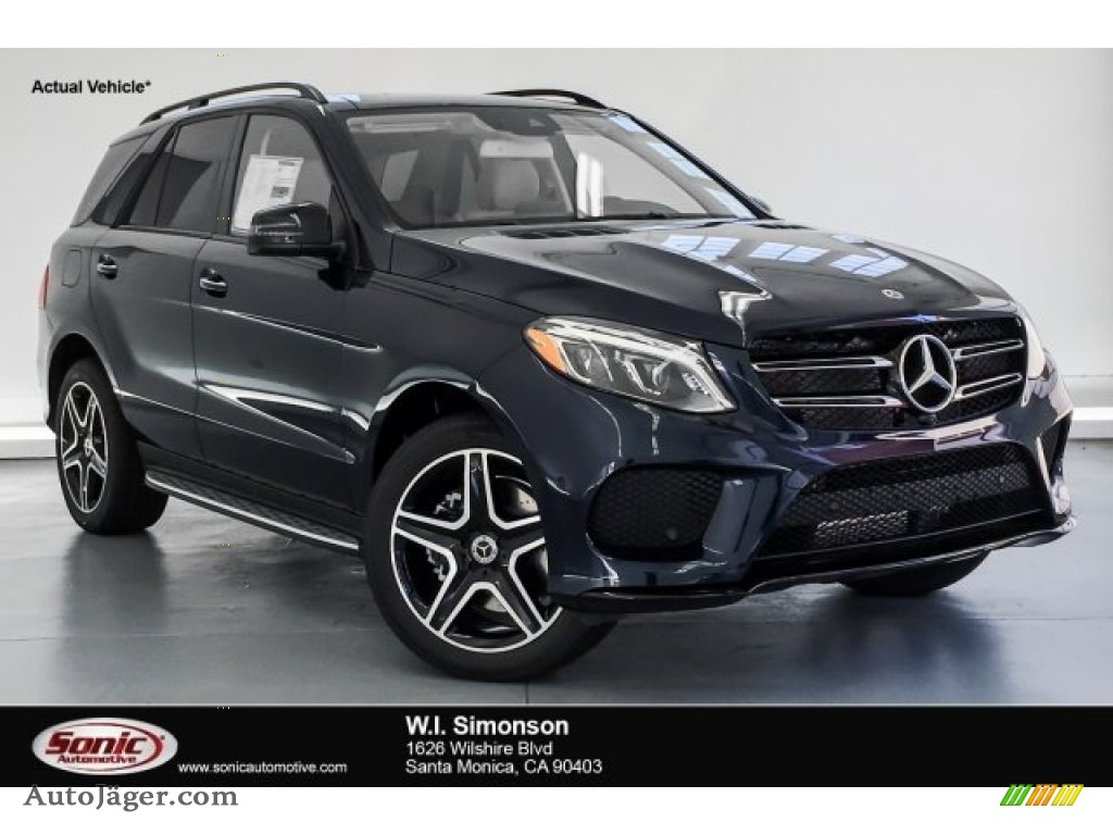 2019 GLE 400 4Matic - Lunar Blue Metallic / Ginger Beige/Espresso Brown photo #1