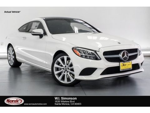 Polar White 2019 Mercedes-Benz C 300 Coupe
