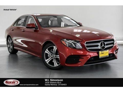 designo Cardinal Red Metallic 2019 Mercedes-Benz E 300 Sedan