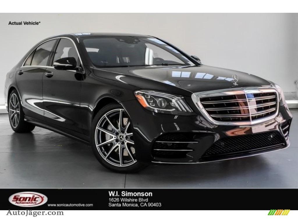 2019 S 450 Sedan - Black / Black photo #1