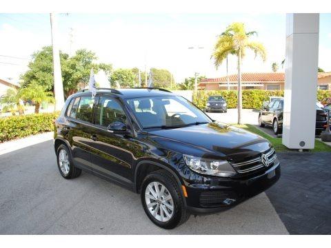 Deep Black Pearl 2018 Volkswagen Tiguan Limited 2.0T