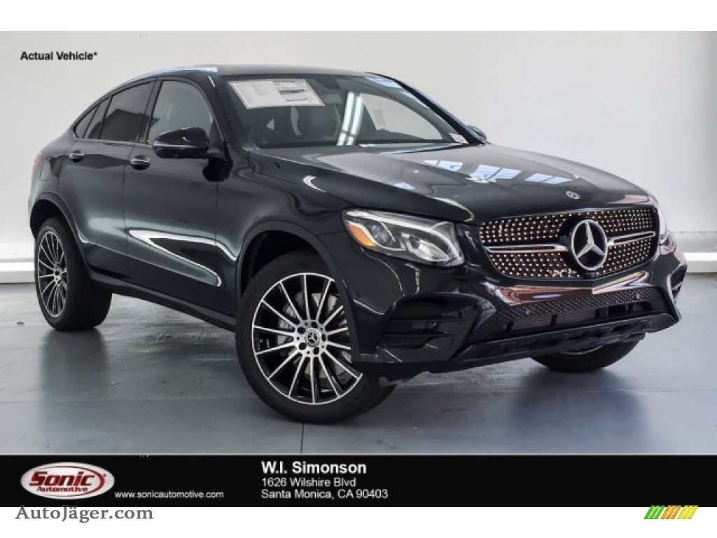 2019 GLC 300 4Matic Coupe - Black / Black photo #1