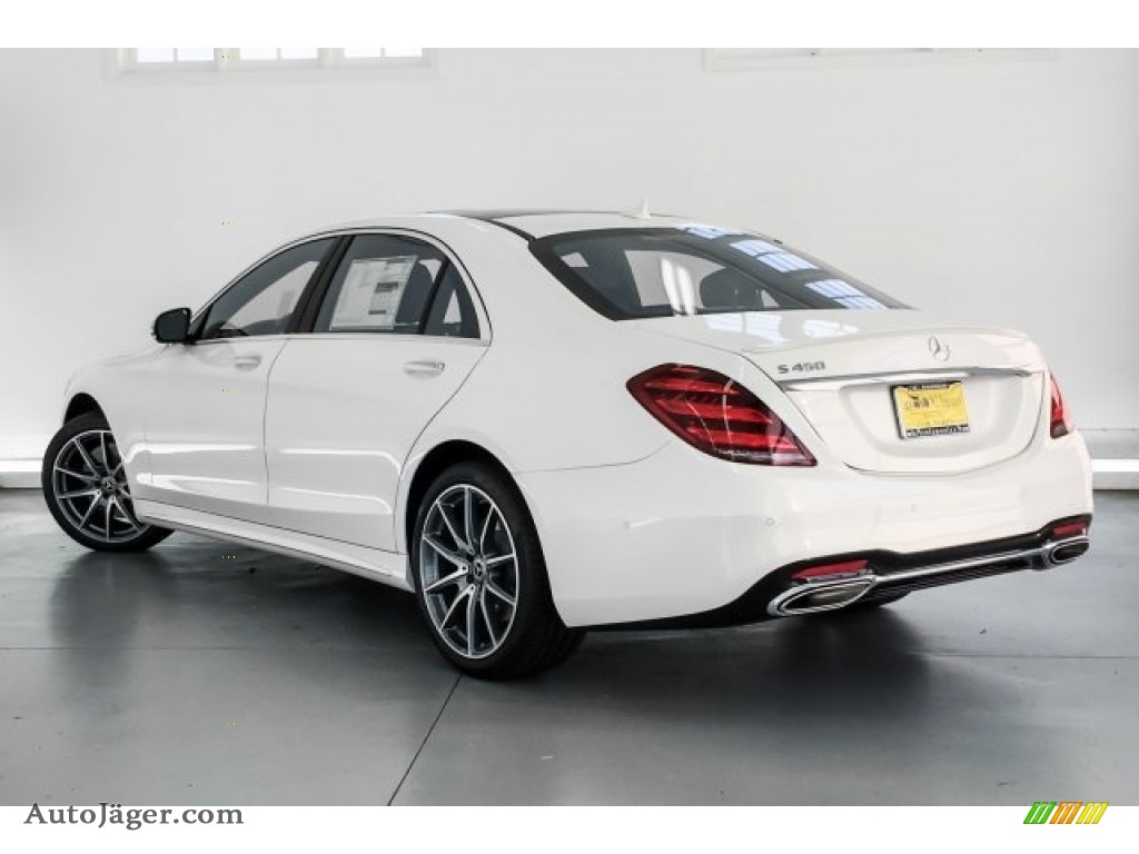 2019 S 450 Sedan - designo Diamond White Metallic / Black photo #2
