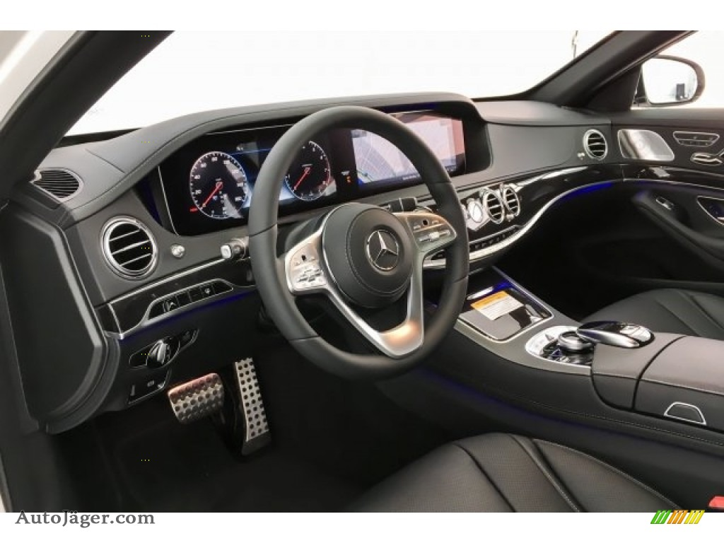 2019 S 450 Sedan - designo Diamond White Metallic / Black photo #4