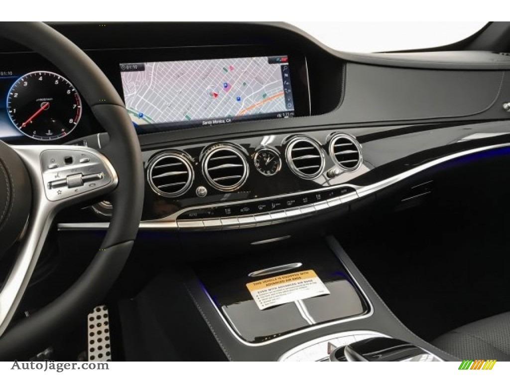 2019 S 450 Sedan - designo Diamond White Metallic / Black photo #6
