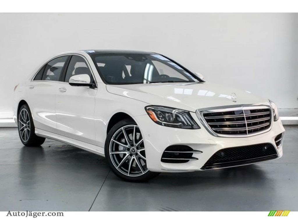 2019 S 450 Sedan - designo Diamond White Metallic / Black photo #12