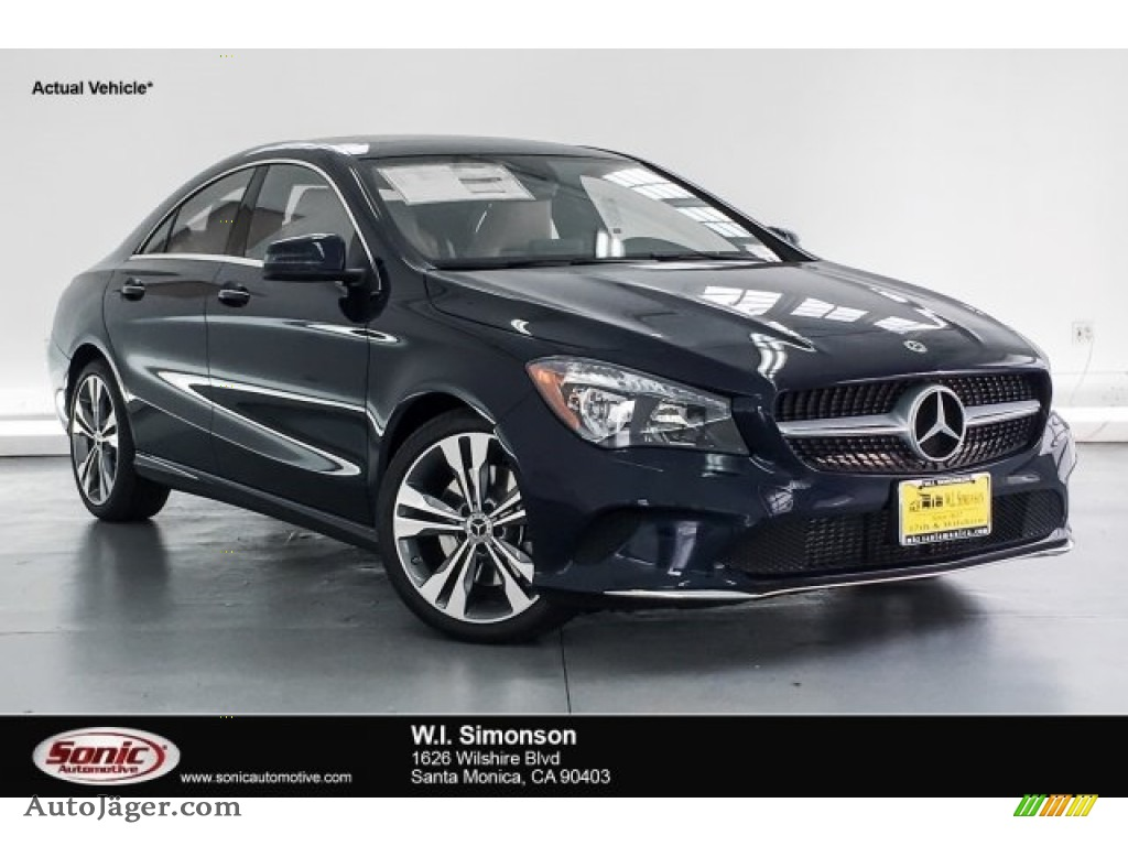 2019 CLA 250 Coupe - Lunar Blue Metallic / Sahara Beige photo #1